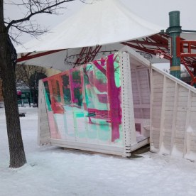 Another one of the warming huts on display